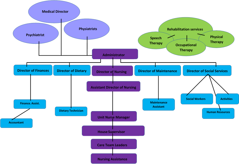 chain of command in hospital setting Understanding of the institution's organizational structure and the chain of  command  hospitalists are not the only providers who work in the hospital  setting.